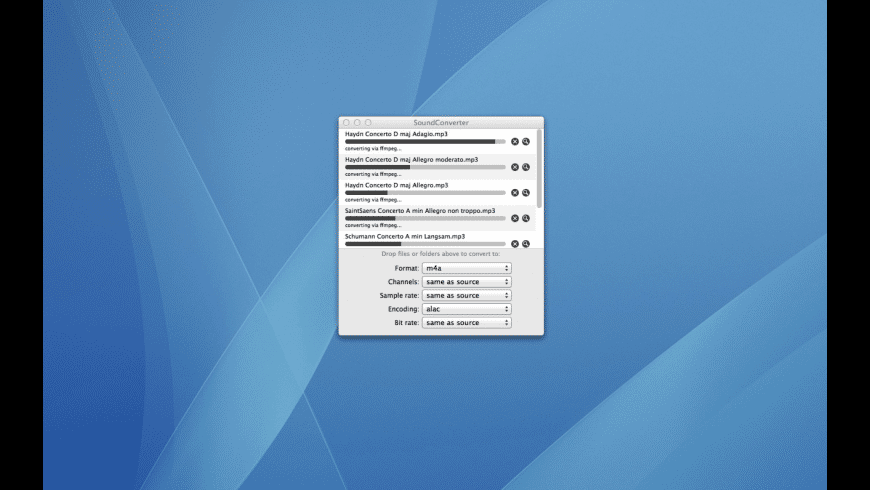 SoundConverter for Mac - review, screenshots