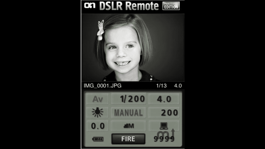 DSLR Remote Professional Edition for Mac - review, screenshots