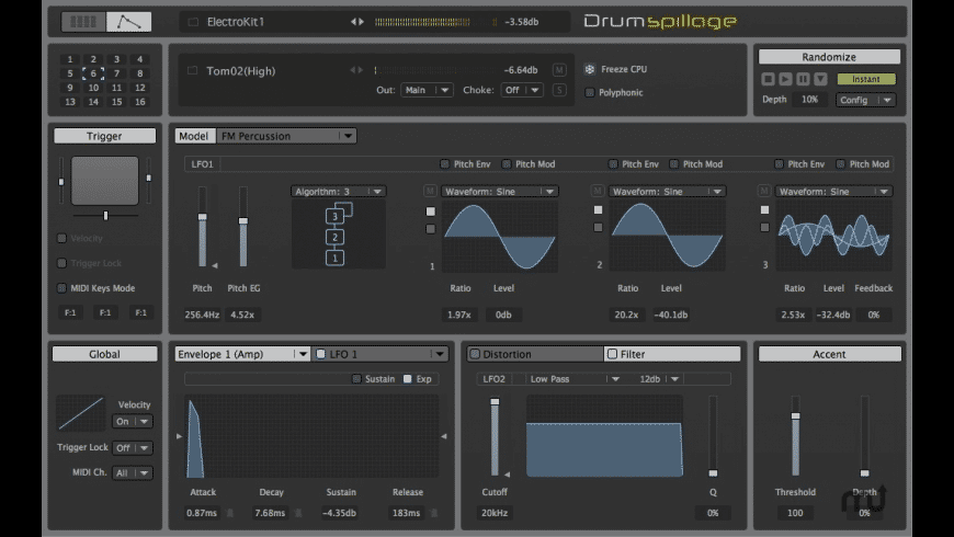 DrumSpillage for Mac - review, screenshots