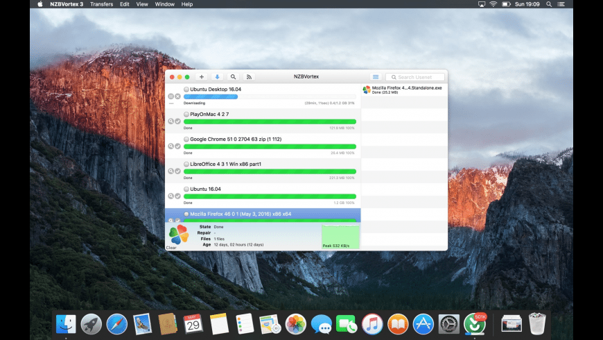 NZBVortex for Mac - review, screenshots