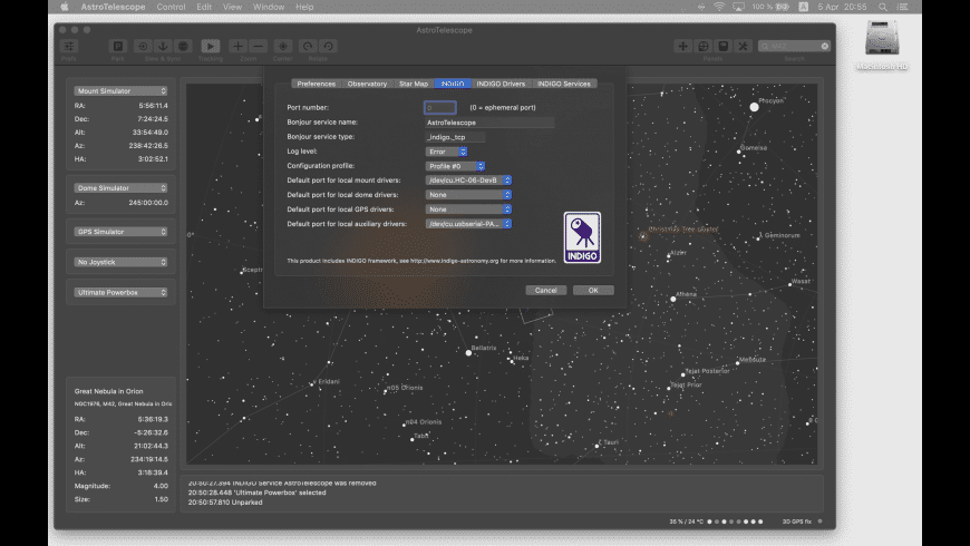 AstroTelescope for Mac - review, screenshots
