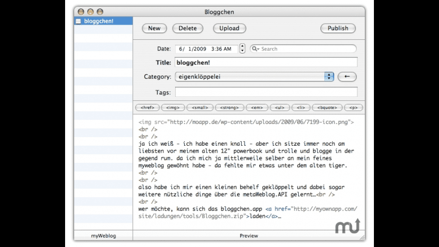 Bloggchen for Mac - review, screenshots