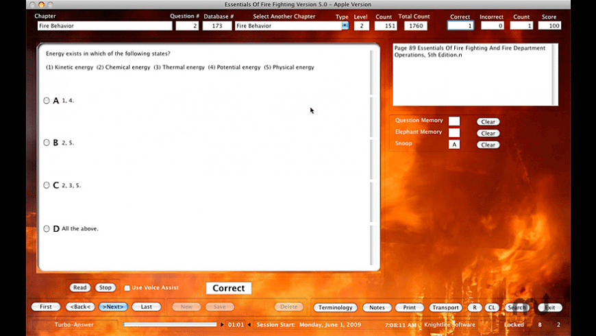 Essentials Of Fire Fighting Study Helper for Mac - review, screenshots