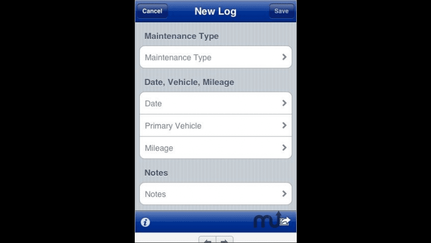 Car Maintenance Log for Mac - review, screenshots