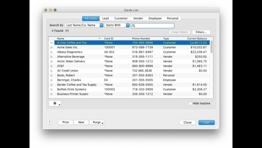 AccountEdge Pro for Mac - review, screenshots
