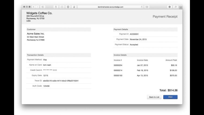 AccountEdge Pro for Mac - review, screenshots