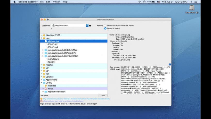 Desktop Inspector for Mac - review, screenshots