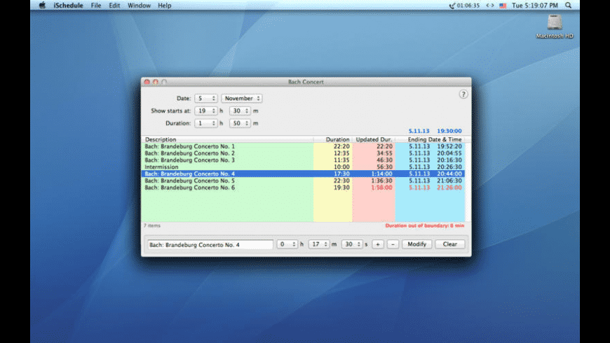 iSchedule for Mac - review, screenshots
