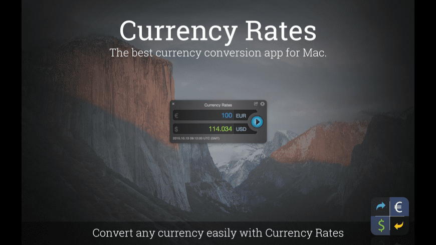 Currency Rates for Mac - review, screenshots