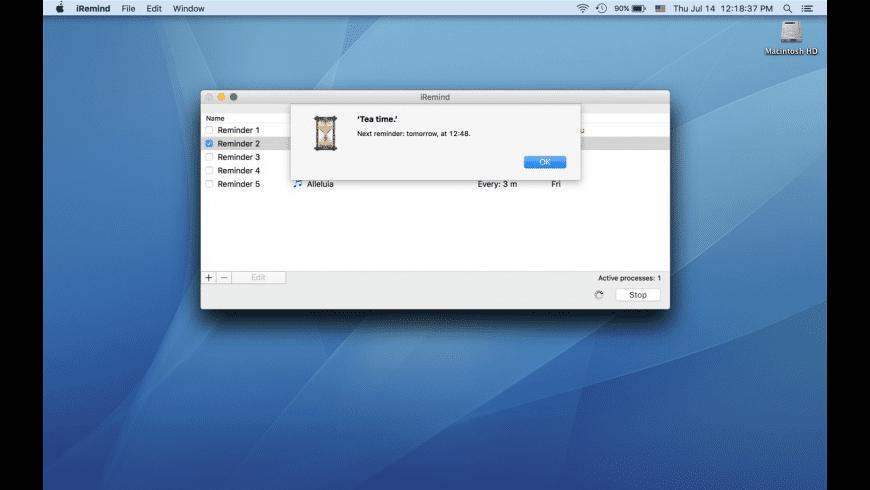 iRemind for Mac - review, screenshots