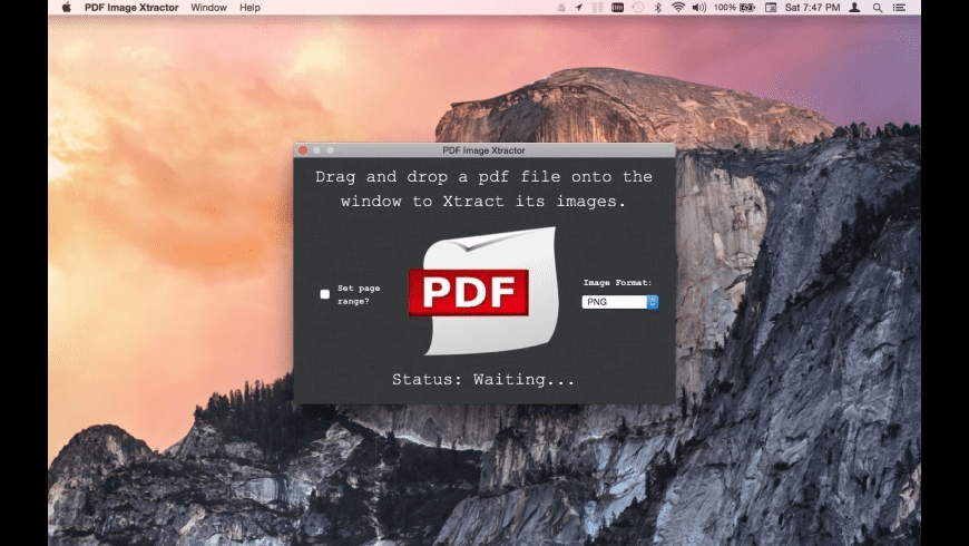 PDF Image Xtractor for Mac - review, screenshots