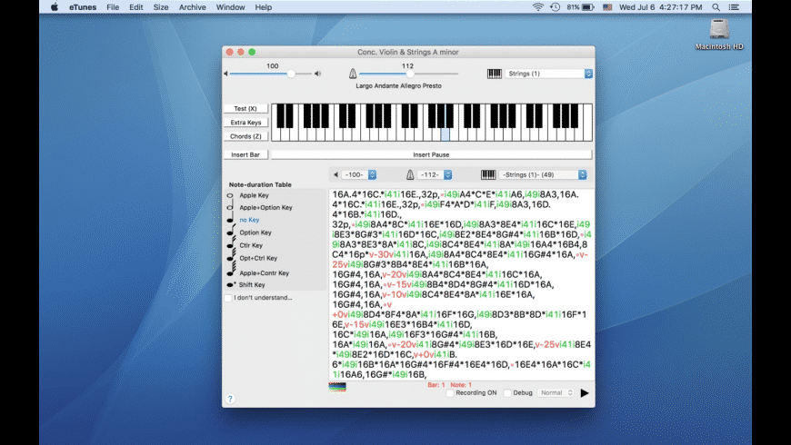 eTunes for Mac - review, screenshots