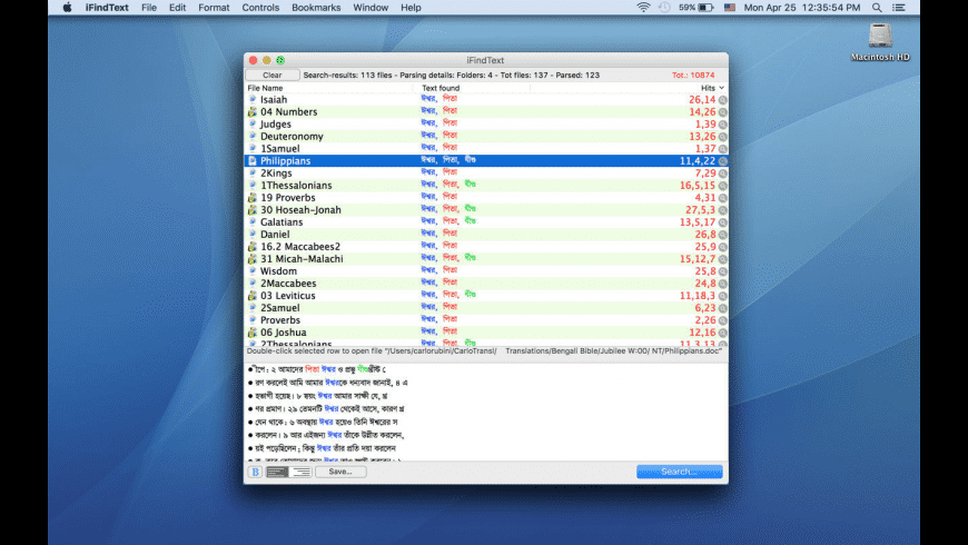 iFindText for Mac - review, screenshots