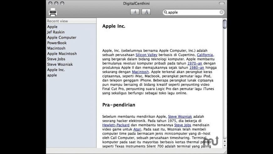 DigitalCenthini for Mac - review, screenshots