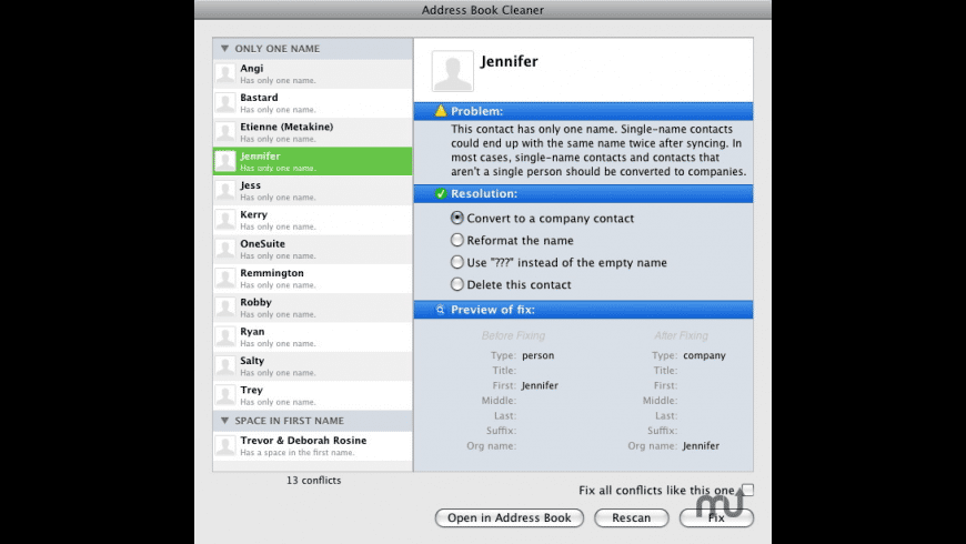 Spanning Tools for Mac - review, screenshots