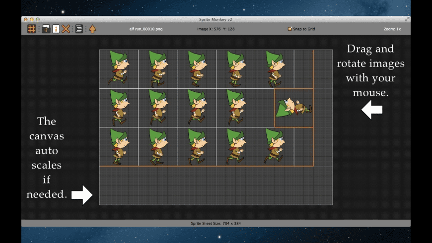 Sprite Monkey for Mac - review, screenshots