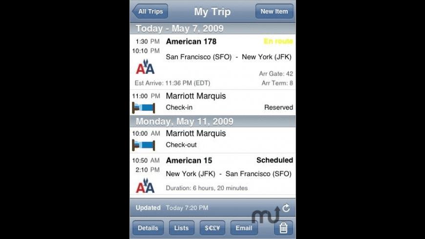 TravelTracker Pro for Mac - review, screenshots