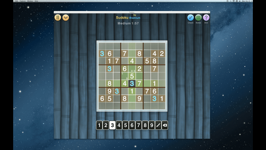 Sudoku OneTouch for Mac - review, screenshots