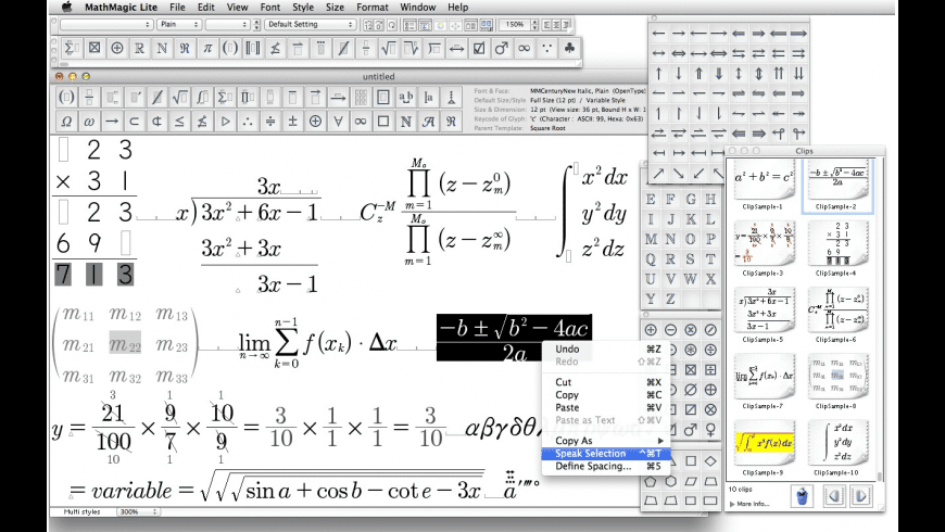 MathMagic Lite for Mac - review, screenshots