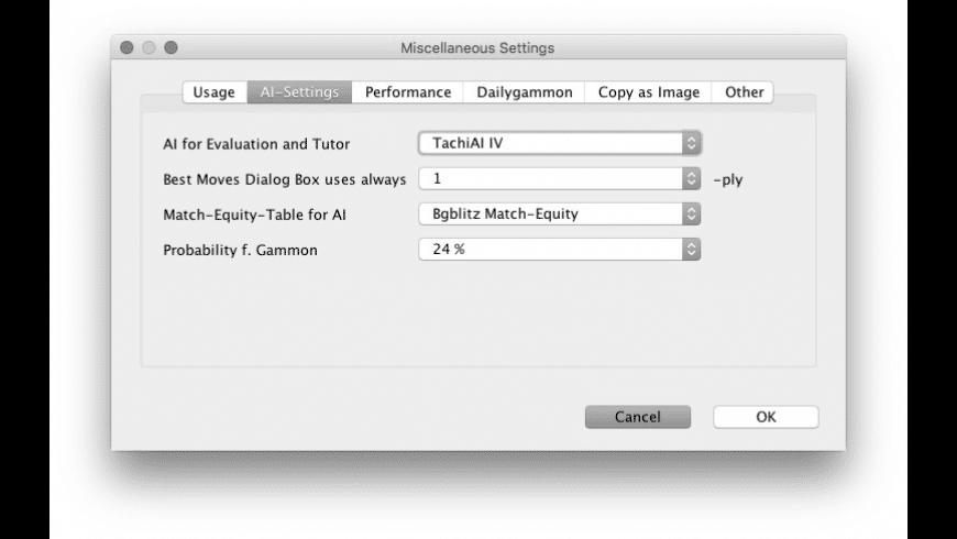BGBlitz X for Mac - review, screenshots
