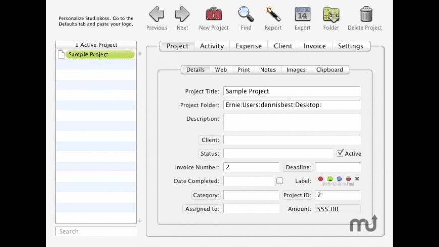 StudioBoss for Mac - review, screenshots