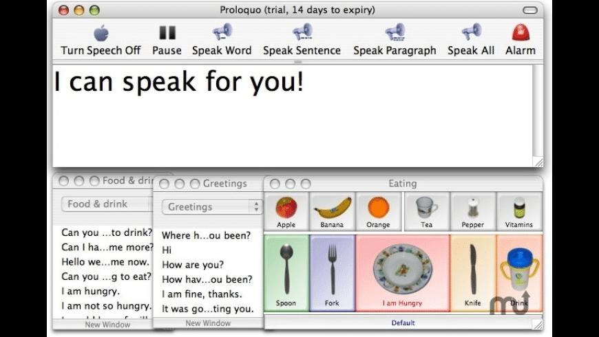 Proloquo for Mac - review, screenshots