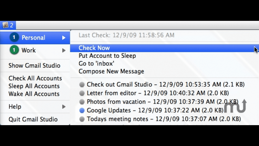 Gmail Studio for Mac - review, screenshots