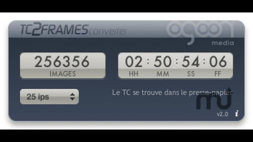TC2Frames Converter Widget for Mac - review, screenshots