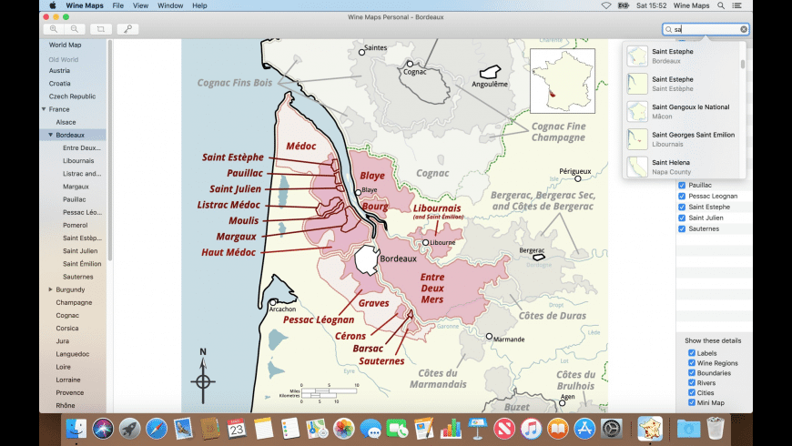 Wine Maps for Mac - review, screenshots
