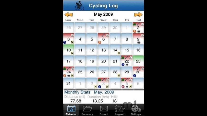 Cycling Log for Mac - review, screenshots