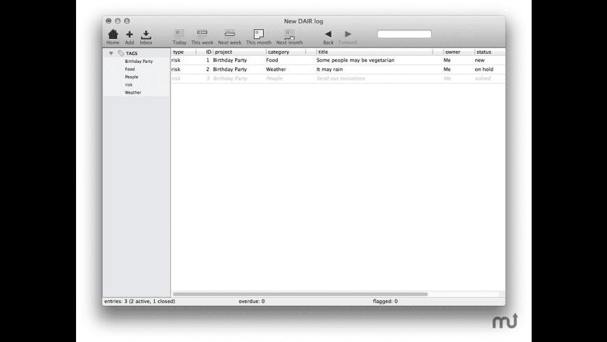 DAIR for Mac - review, screenshots