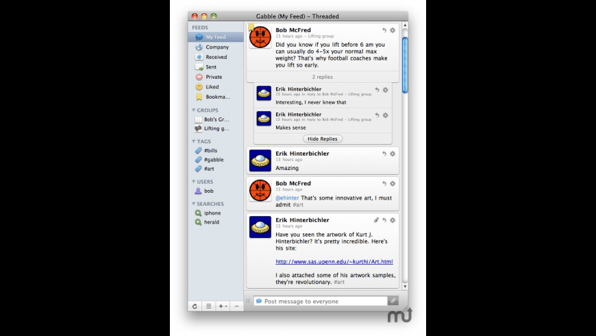 Gabble for Mac - review, screenshots