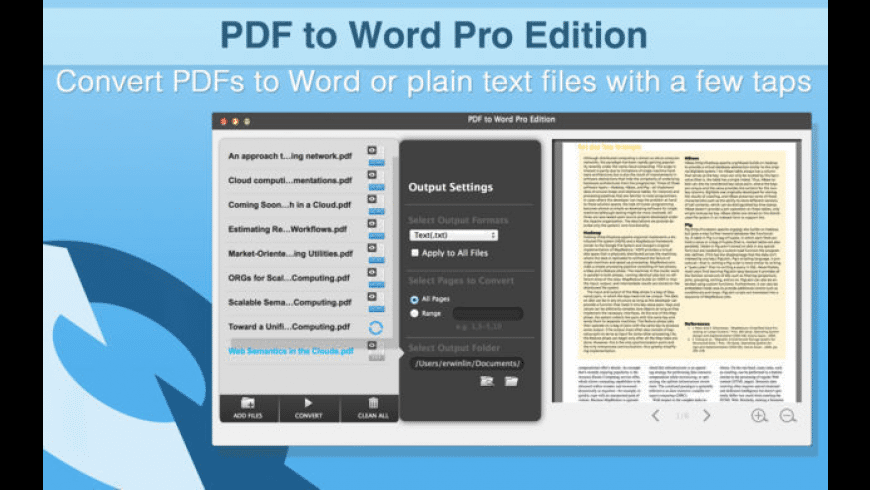 PDF to Word Pro Edition for Mac - review, screenshots