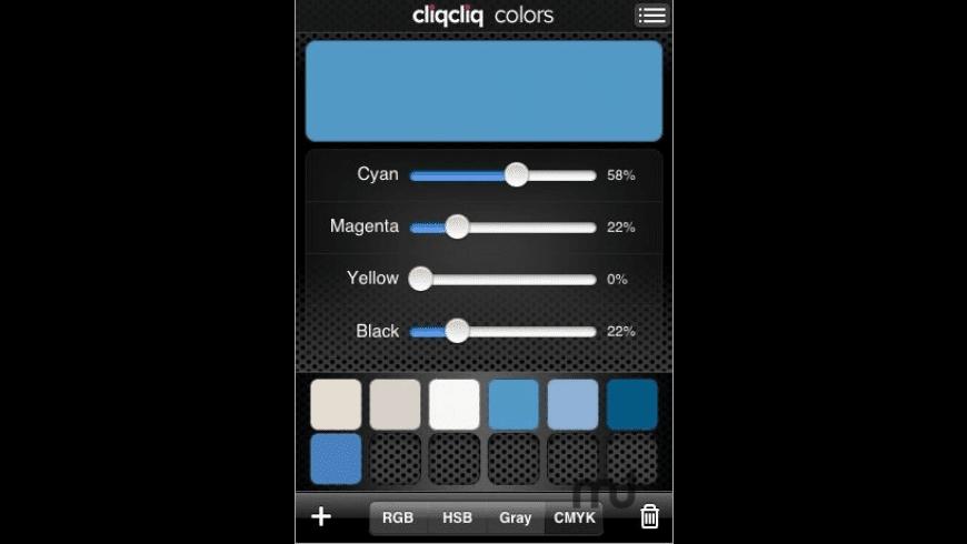 cliqcliq Colors for Mac - review, screenshots
