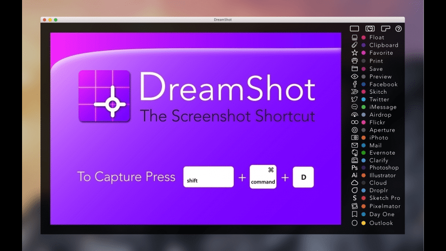 DreamShot for Mac - review, screenshots