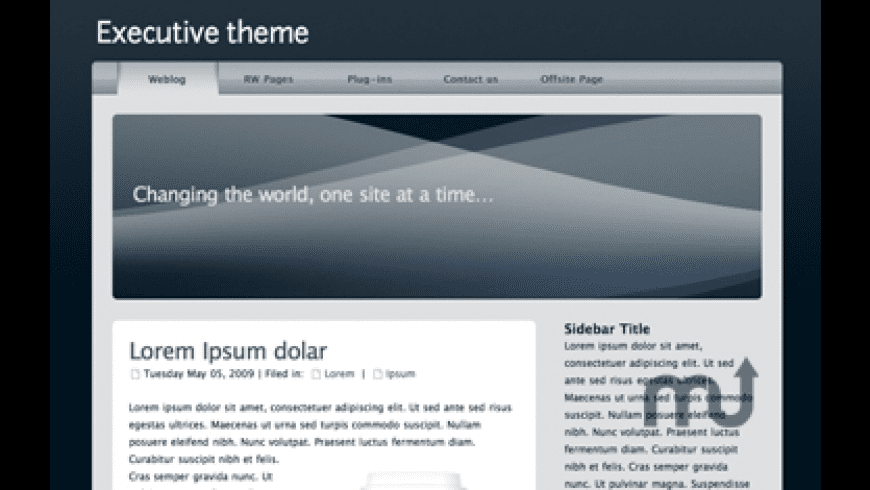 Executive Theme for Mac - review, screenshots