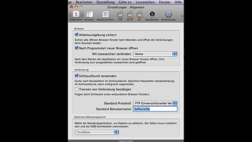 Portable Cyberduck for Mac - review, screenshots