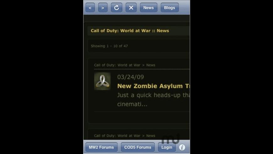 COD Assistant for Mac - review, screenshots