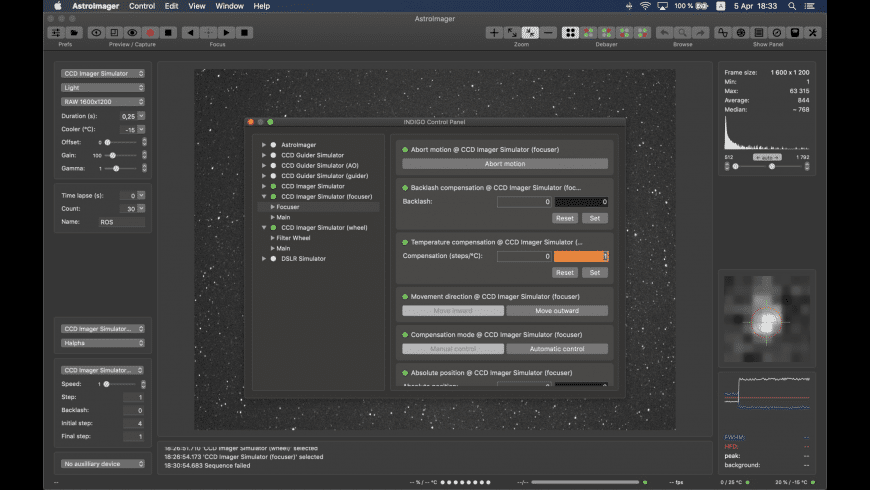 AstroImager for Mac - review, screenshots