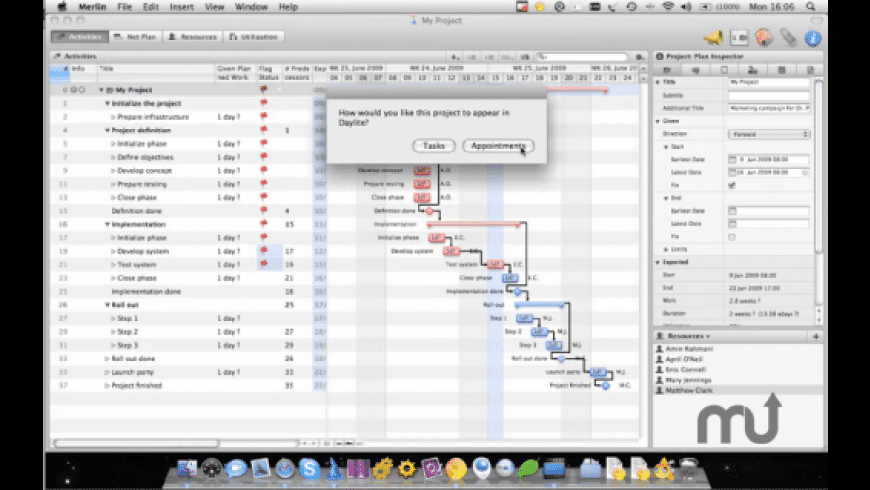MerlinDayliteLink for Mac - review, screenshots