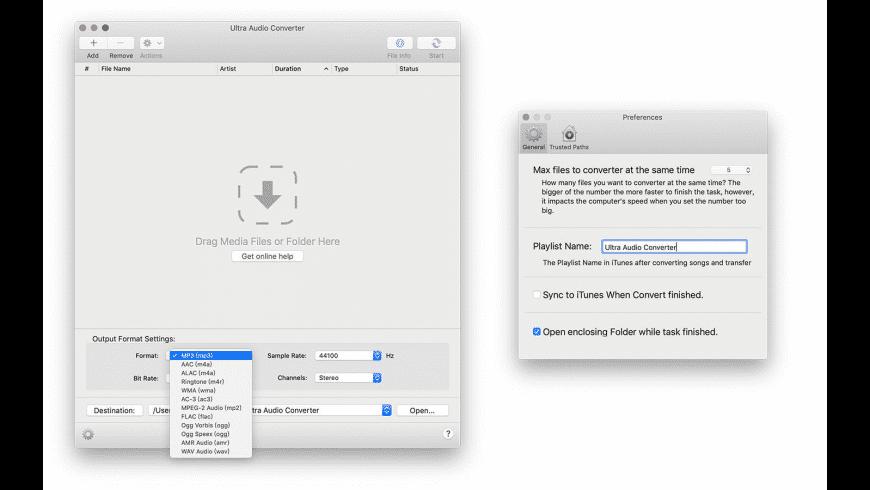 Ultra Audio Converter for Mac - review, screenshots