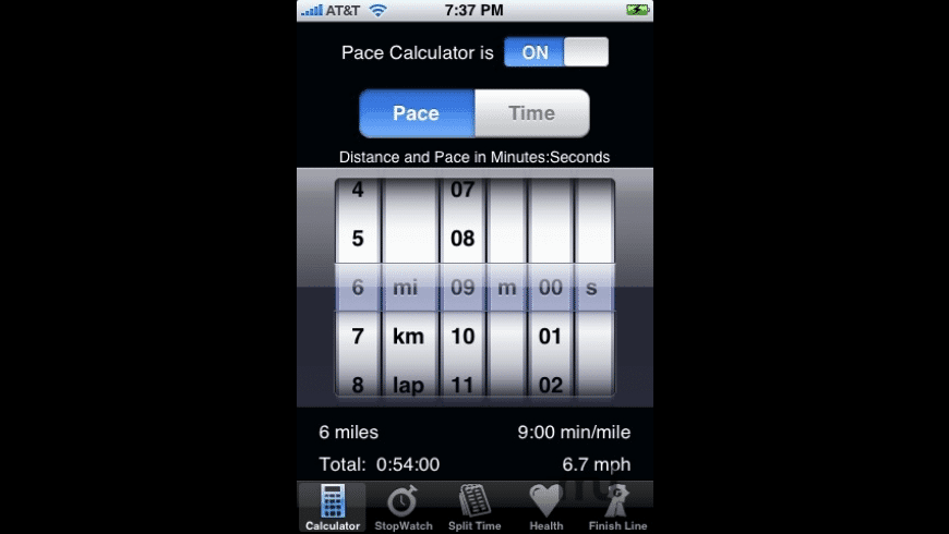 Track My Pace for Mac - review, screenshots