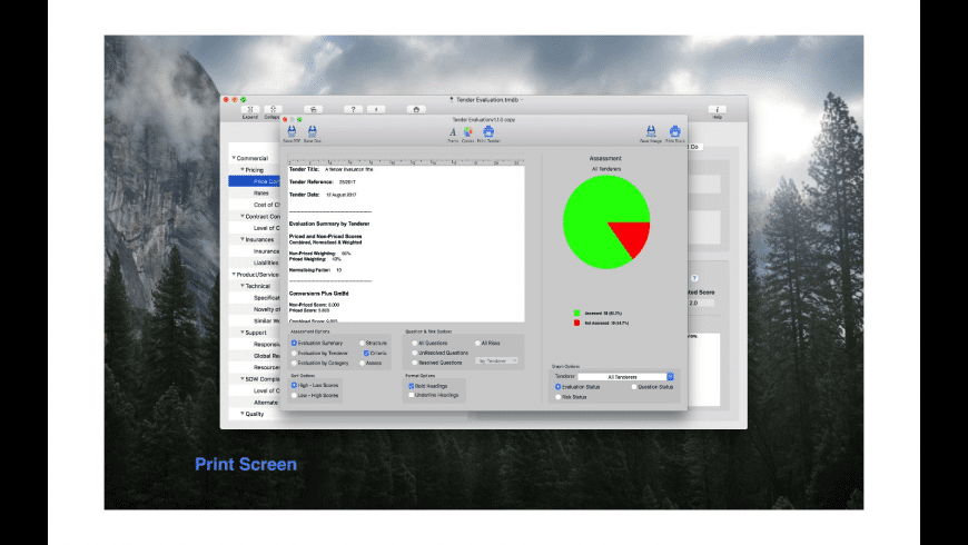 Tender Manager for Mac - review, screenshots
