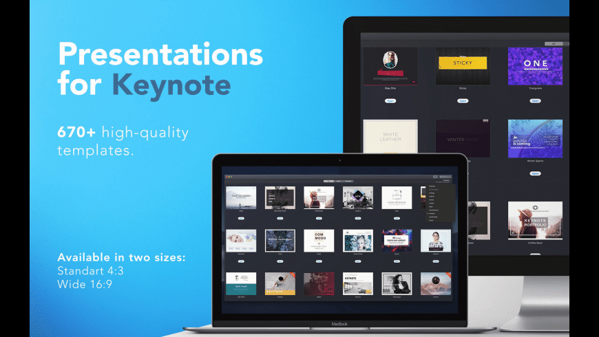 Templates for Keynote for Mac - review, screenshots