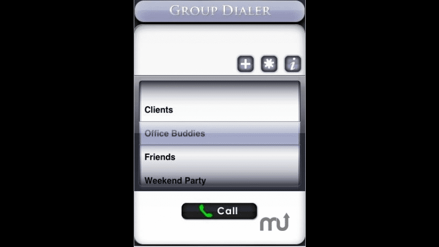 Group Dialer for Mac - review, screenshots