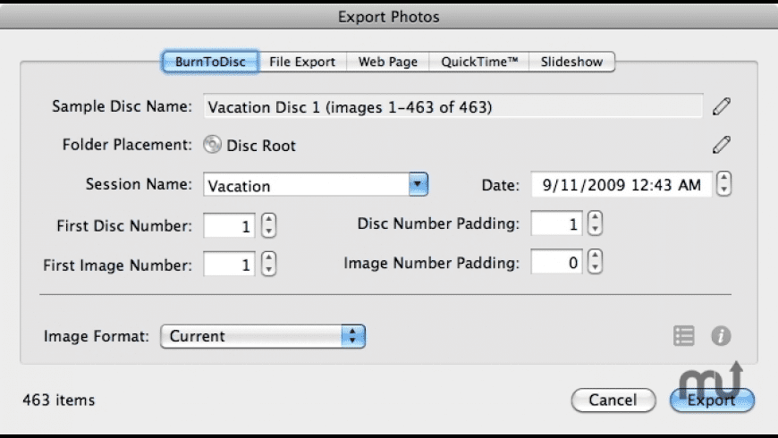 BurnToDisc for iPhoto for Mac - review, screenshots