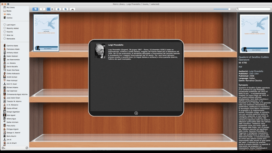 theLibrarian for Mac - review, screenshots