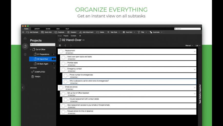 Taskfabric for Mac - review, screenshots