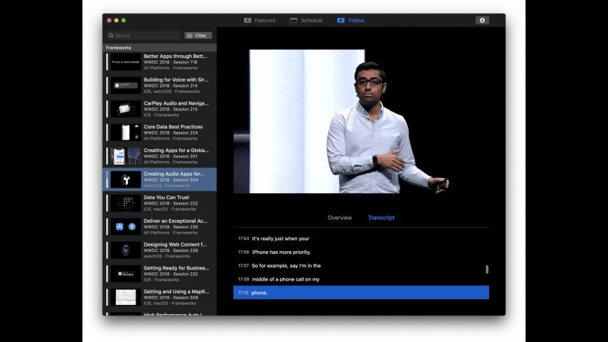 WWDC for Mac - review, screenshots