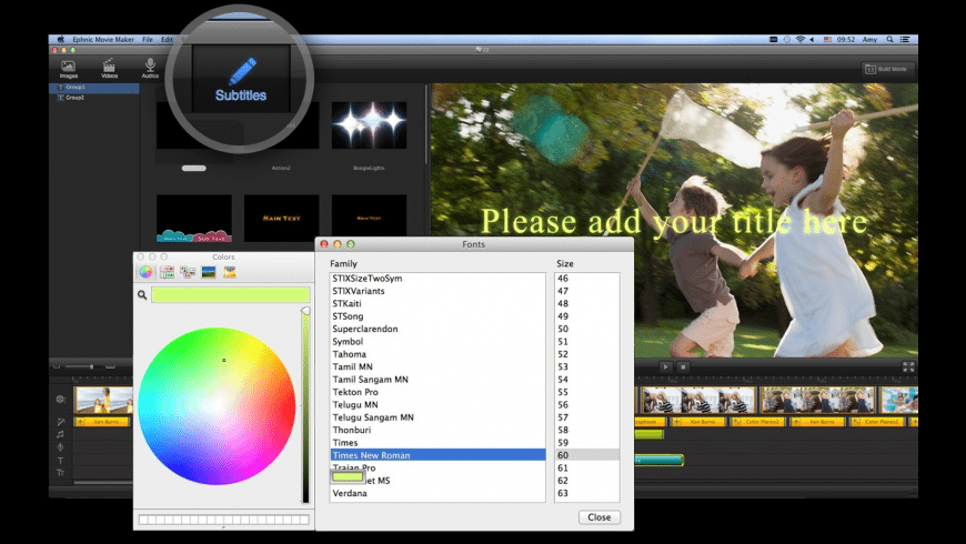 Ephnic Movie Maker for Mac - review, screenshots